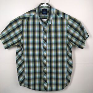 Prana casual short sleeve snap button - large